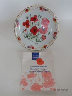 Royal British Legion Collectors Plate, Field Poppy In Flanders Fields, M Stevens Listing in the Plates,Collectables Category on eBid United Kingdom