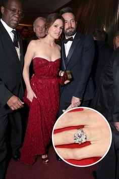 Jennifer Garner and Ben Affleck   the 4.5 Carat Gem is breath taking.  Get your similar Cushion Cut diamond here http://www.miabelladiamonds.com.au/collections/cushion