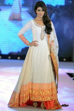 Priyanka Chopra at Pidilite-CPAA Charity show in beautiful creation by Manish Malhotra, via @VogueIndia