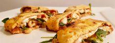 Omeletrolletjes met pesto en rucola – Sport Foodblog Mozzarella, Pesto, Risotto, Tapas, Zucchini, Sport, Chicken, Vegetables, Ethnic Recipes