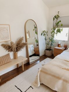 our master bedroom video tour (with links to everything) – almost makes perfect - decorating a new home Room Design Bedroom, Boho Bedroom Decor, Room Ideas Bedroom, Home Bedroom, Long Bedroom Ideas, Bedroom Inspo, Boho Room, Airy Bedroom, Dream Bedroom