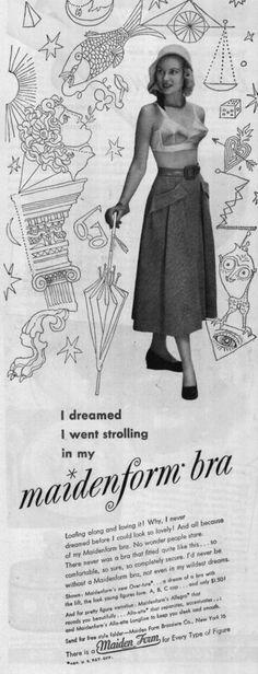 "'I dreamed I went strolling in my maidenform bra"""