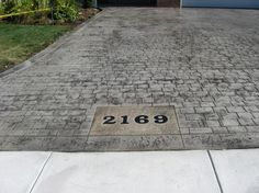 Stamped concrete patterns patio, Many people today would like to increase their home by making their residence get noticed for increased value. A number of people are not proficient at interior designer. Stamped Concrete Patterns, Stamped Concrete Driveway, Concrete Driveways, Concrete Patio, Concrete Design, Walkways, Driveway Design, Driveway Landscaping, Driveway Ideas