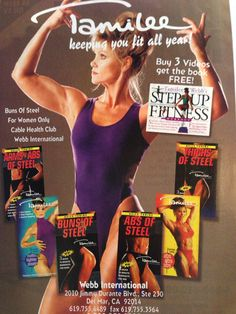 #tamileewebb #BunsOfSteel #workoutdvds #losefatfast Retro Fitness, Buns Of Steel, Workout Dvds, Lose Fat Fast, Thighs, Health, Women, Health Care, Thigh