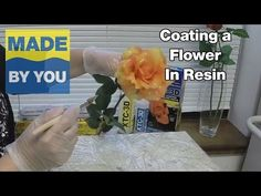 How To Coat a Flower With Resin - YouTube