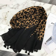 Women Autumn Spring Spain Style Scarf with Long Leopard Print Scarf Muffler Leopard Print Scarf, Muslim Hijab, Women's Summer Fashion, Style Fashion, Designer Scarves, Summer Scarves, Scarf Styles, Adulting, Womens Scarves