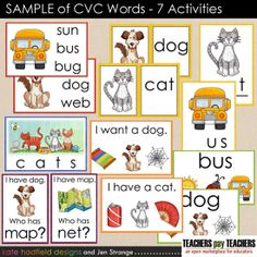 Try out my 7 part CVC words flashcards, designed for photo printing.  Free sample available at my TpT store.