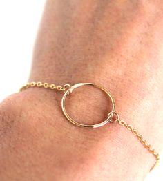 Gold Inifinity Bracelet