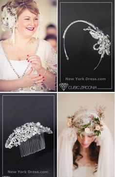 #NewYorkDress Blog // #Wedding Hair Decor // Click through for some of our favorites!
