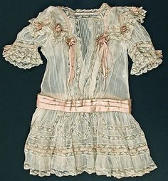 "Edwardian girl's dress ... ca. 1910 My mom made some like this, but she called them ""French heirloom dresses."""