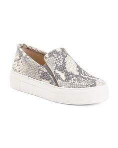 Snake Print Leather High Wall Sneakers - Shoes - T. High Walls, Mens Activewear, Makeup Shop, Snake Print, Tj Maxx, Fashion Styles, Fashion Design, Autumn Fashion, Shoes Sneakers