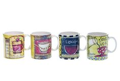 Set of 4 Assorted Java Time Mugs on OneKingsLane.com