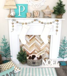 DIY Faux Fireplace by Petite Party Studio
