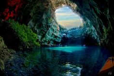 a wonderful cave in Cephalonia: The Melissani.