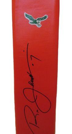 086256a2114 Ron Jaworski Autographed Philadelphia Eagles Full Size Football End Zone  Touchdown Pylon, Proof