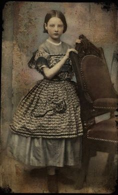 Tintype of a young girl 1860s - VIA VINTAGE CHILDREN