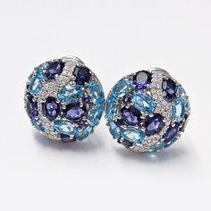 Gemstone Earrings, Stud Earrings, Gemstones, Diamond, Color, Jewelry, Jewlery, Gems, Jewerly