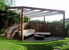 Pergola with umbrella: an absolute guarantee of well-being, ., Pergola with umbrella: an absolute guarantee of well-being, . Though ancient around idea, this pergola is experiencing somewhat of a contemporary rebirth all these days. Diy Pergola, Corner Pergola, Modern Pergola, Outdoor Pergola, Pergola Attached To House, Pergola With Roof, Back Gardens, Outdoor Gardens, Gazebos