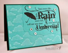 By: Kendra Wietstock; Crafter's Companion (Sheena Douglass Only Words -Through the Rain).  @CraftersCompanion