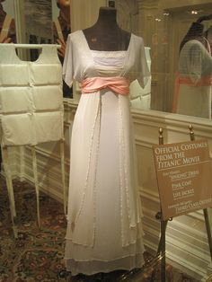 """Kate Winslet's beautiful """"sinking"""" dress on Titanic. This is on display at the exhibit in Pigeon Forge, TN. This was probably my favorite dress in the entire movie. So pretty."""