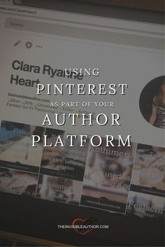 Using Pinterest as an author? Quick read with tips to try right now via @ClaraRHeart #indieauthor #bookmarketing