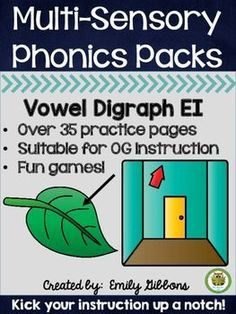 This vowel digraphs pack has everything you need to teach the vowel digraphs EI, also called variant vowels EI. Shop here at The Literacy Nest Phonemic Awareness Activities, Phonics Activities, Cursive Handwriting Practice, Vowel Digraphs, French Language Learning, Learning Spanish, Gillingham, Reading Intervention, Word Study