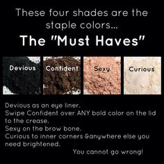 Do you want the main makeup essentials to take you from that perfect day look to a devious night look? If so, you have to order these 4 Moodstruck eye pigments. You can go from a more natural look to a edgy one in the matter of seconds. Visit Http://3dlasheswithchrissynutter.com/ to order Younique makeup today! For chances to win FREE Younique Makeup and other cool prizes, get tips and DIY ideas visit my Facebook page, https://www.facebook.com/3Dlasheswithchrissynutter.