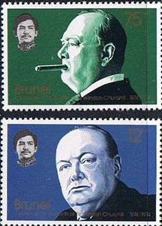 Brunei 1974 Churchill Centenary Set Fine Mint SG 239 40 Scott 220 1 Other Brunei Stamps HERE