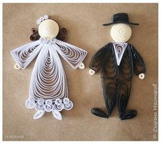 Поделка изделие Свадьба Квиллинг и снова на свадебную тему Бумага