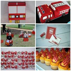 Love the little fire trucks to drive Fireman Party, Firefighter Birthday, Little Man Birthday, Birthday Fun, Birthday Ideas, Abc Party, Monster Truck Party, Fire Trucks, Party Planning