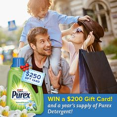 Enter to win a $200 Gift Card and year's supply of Purex!