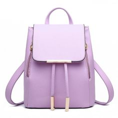 Donalworld Women Candy Double Zipper Closure Backpack Manmade Leather... ($26) ❤ liked on Polyvore featuring bags, handbags, shoulder bags, purple purse, faux leather backpack purse, faux leather shoulder bag, backpack purse and vegan shoulder bag