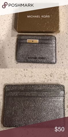 001a5da17af5 Michael Kors Cardholder Color is Pewter, new comes in box Michael Kors  Accessories Key &