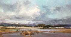"""Cloud Break by Simon Addyman Oil ~ 16"""" x 30"""""""