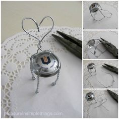 make miniature chairs from champagne cages....so easy!