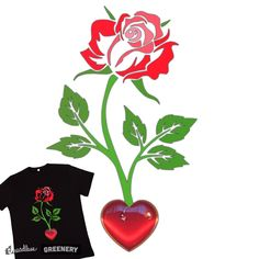 Spring Heart blooms on Threadless