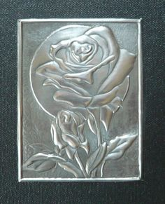 Pewter Art Pewter Art, Pewter Metal, Metal Projects, Metal Crafts, Aluminum Foil Art, Soda Can Crafts, Art And Hobby, Metal Embossing, Metal Artwork