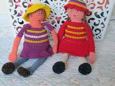 Handmade dolls. Crochet. 100% cotton