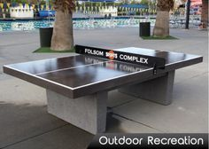 Precast Concrete Table Tennis, Extremely Durable, Custom Laser Cut Net  (image Same On