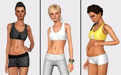 The Sims 3   Buckley's Sims Muted Sports Bra   CAS clothing default replacement top recolor maternity enabled for female adult