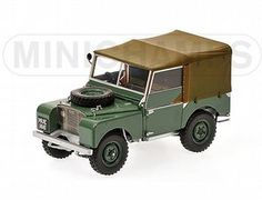 The 1/18 Land Rover 1948 Green, from the Minichamps 1/18 Road Cars collection - Discounts on all Minichamps diecast models at Wonderland Models.