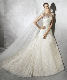 Wedding Dresses : Illustration Description Lace wedding dress with a-line silhouette and sweetheart neckline I Style: TAMIA I by PRONOVIAS I Wedding Dress Prices, 2016 Wedding Dresses, Bridal Dresses, Wedding Gowns, Bridesmaid Dresses, Women's Dresses, Dresses 2016, Formal Wedding, Formal Dresses