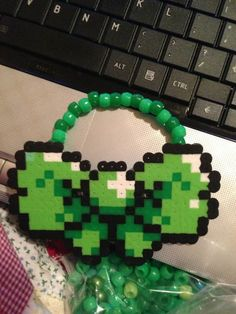 Kandi bow also made with perler beads