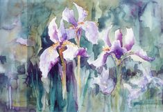 Iris at Giverny (wish I could paint like this)