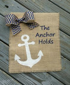 Check out this item in my Etsy shop https://www.etsy.com/listing/224252876/the-anchor-holds-burlap-garden-flag #etsy #handmade #homedecorations #burlap #etsyshop #gardenflag #gardendecor #inspirational #gardensign #anchor #nauticaldecor