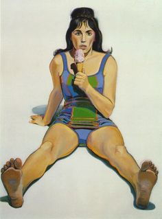 Wayne Thiebaud - Girl with Ice Cream Cone