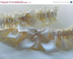 SALE Wedding Garter Set All In Ivory Satin by PerfectGarter, $25.20