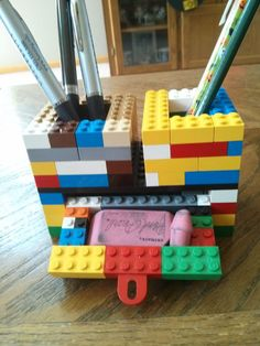 lego business card holder instructions