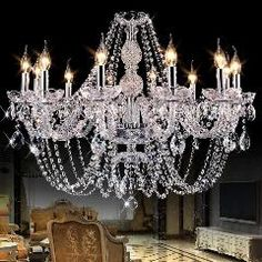 Art Decor Church Chandelier Lighting Large 3-layer Cognac Crystal Lamp 28-35 Pcs Vintage Hanging Lustre Villa Hotel Chandelier Choice Materials Lights & Lighting