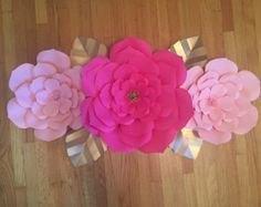 Large Paper Flower Backdrop-Customize your by ArielleEliseDesigns